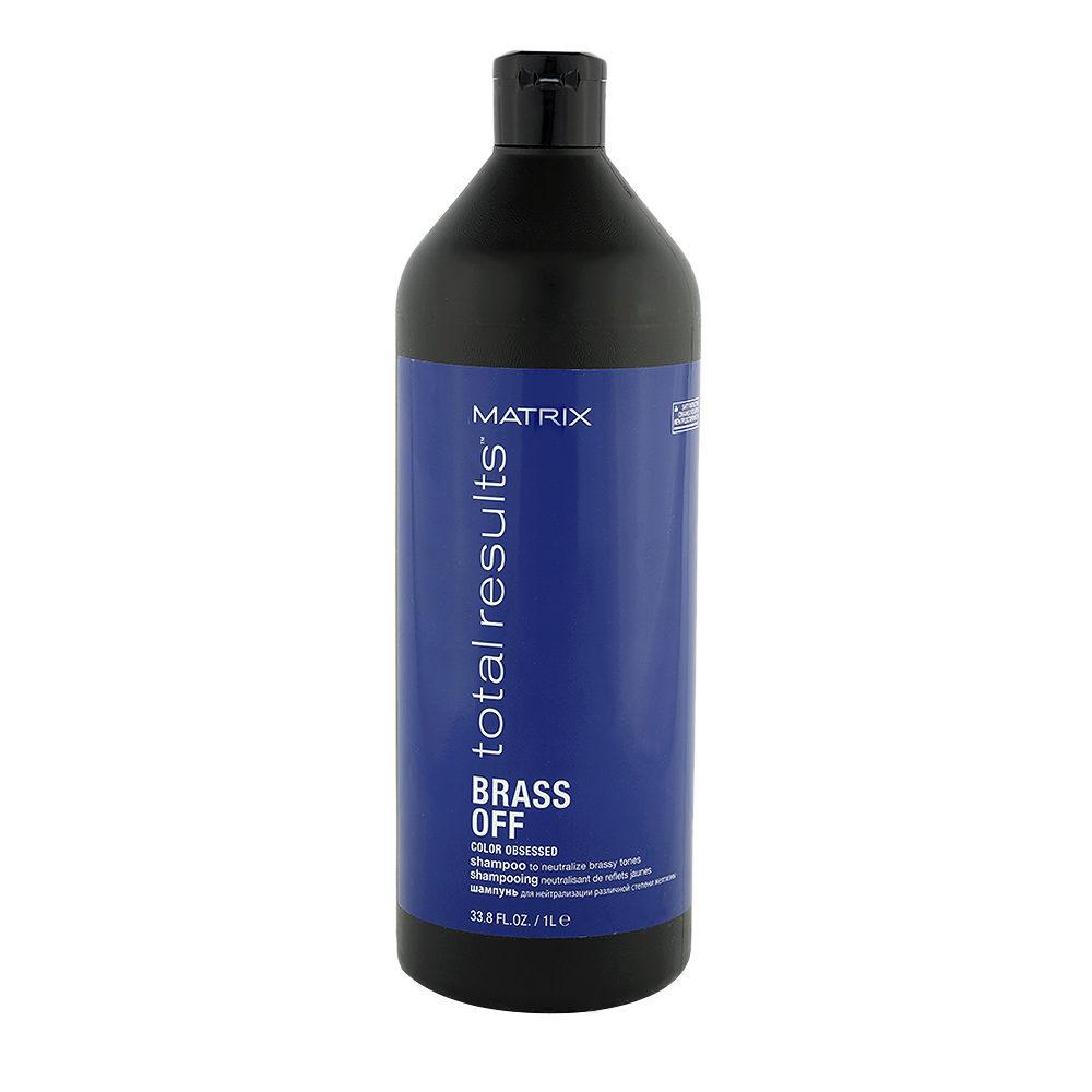 Matrix Total Results Brass Off Shampoo 1000ml - champù para neutralizar tonos cobrizos