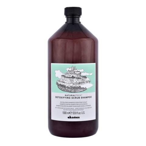 Davines Naturaltech Detoxifying Scrub Shampoo 1000ml - Champú revitalizante
