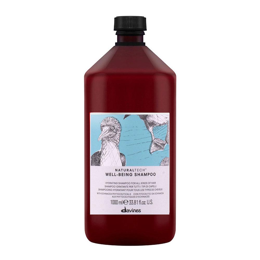 Davines Naturaltech Wellbeing Shampoo 1000ml - Champú hidratante
