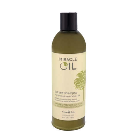Earthly Body Miracle Oil Tea Tree Shampoo 473ml - champú sin sulfatos