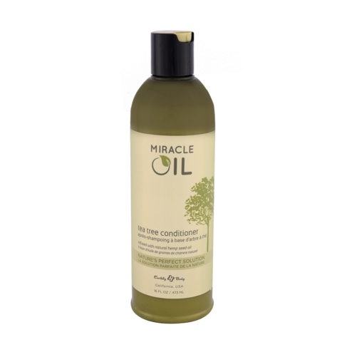 Earthly Body Miracle Oil Tea Tree Conditioner 473ml - Acondicionador hidratante sin sulfatos