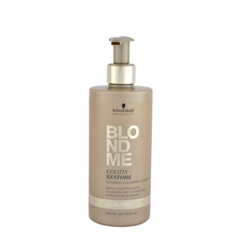 Schwarzkopf Blond Me Keratin Restore Bonding Cleansing Conditioner 500ml - balsamo de reconstruccion