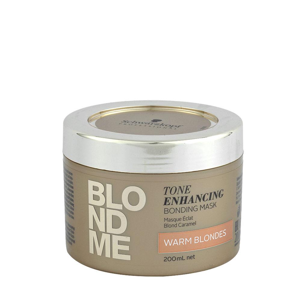 Schwarzkopf Blond Me Tone Enhancing Bonding Mask Warm Blondes 200ml - Mascara Para Rubias Calientes