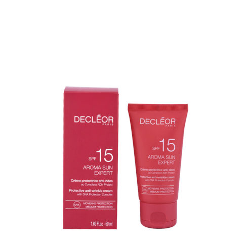 Decléor Aroma Sun Crème Protectrice Anti-rides SPF15, 50ml - crema protectora antiarrugas