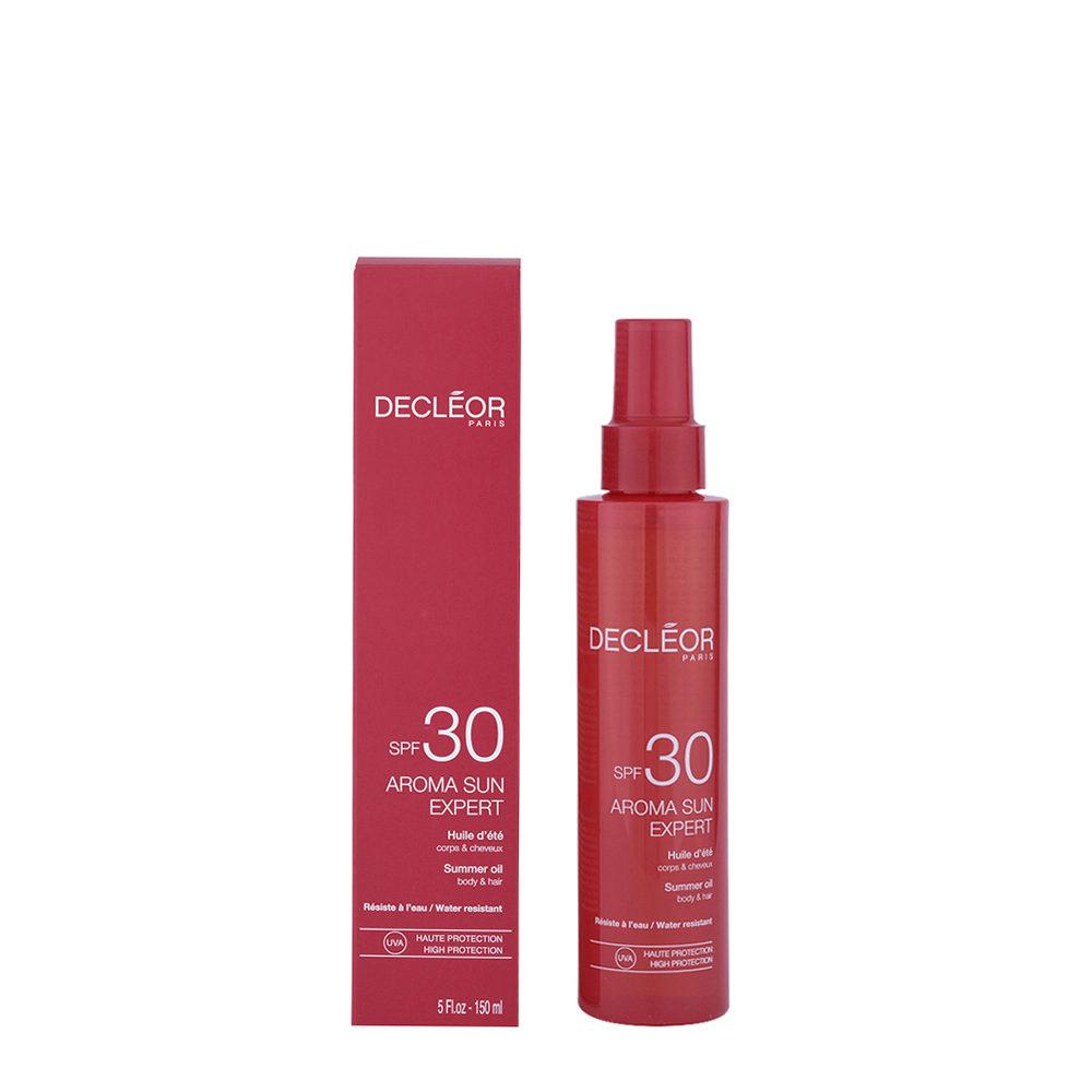 Decléor Aroma Sun Huile d'été corps et cheveux SPF30, 150ml - aceite cuerpo y pelo