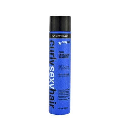 Curly Sexy Hair Sulfate-Free Curl Enhancing Shampoo 300ml- Champú Hidratante Rizado