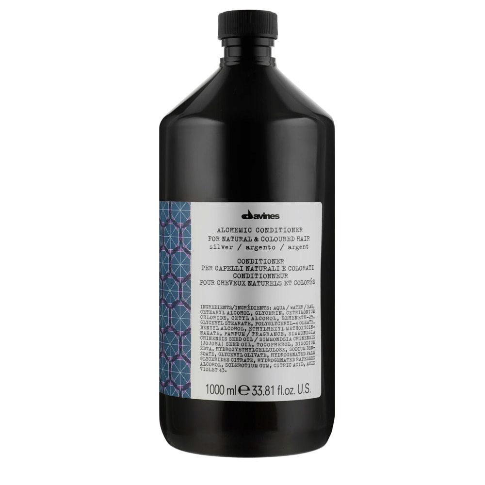 Davines Alchemic Conditioner Silver 1000ml - Acondicionador Coloreado Para Cabello Cano