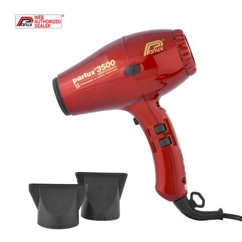 Parlux 3500 Supercompact rojo - secador rojo