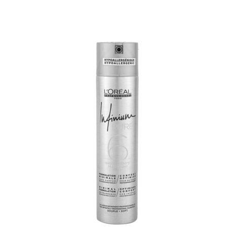 L'Oreal Hairspray Infinium Pure Soft 300ml - sello suave lacado sin olor