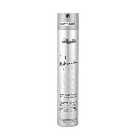 L'Oreal Hairspray Infinium Pure Strong 500ml - agarre fuerte sin laca inodoro
