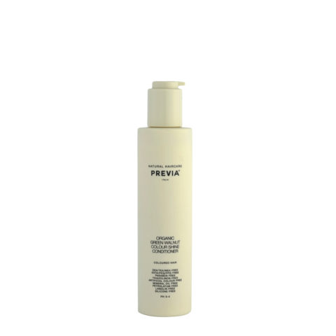 Previa Keeping Organic Green walnut colour shine Conditioner 200ml - acondicionador para cabello colorado