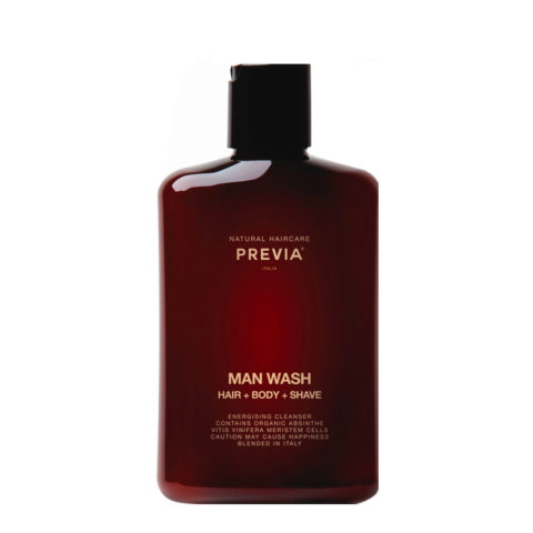 Previa Man Wash hair body shave 250ml - ducha champú hombre