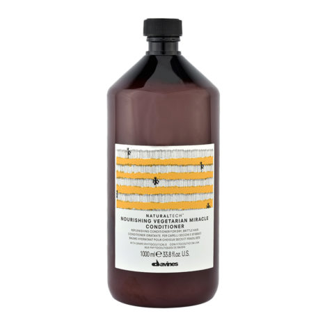 Davines Naturaltech Nourishing Vegetarian Miracle Conditioner 1000ml - Acondicionador reestructurante