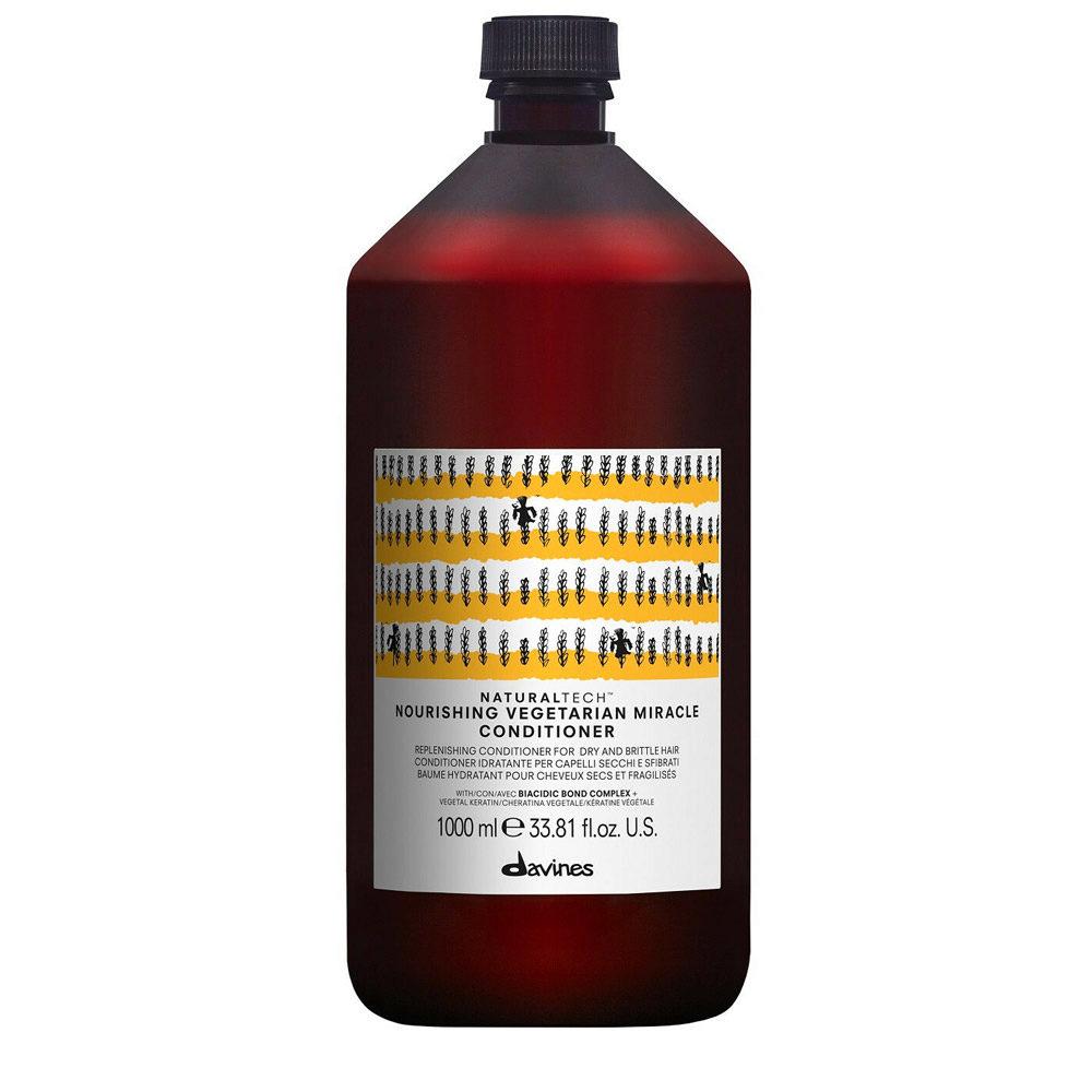 Davines Naturaltech Nourishing Vegetarian Miracle Conditioner 1000ml - Acondicionador reestructurante