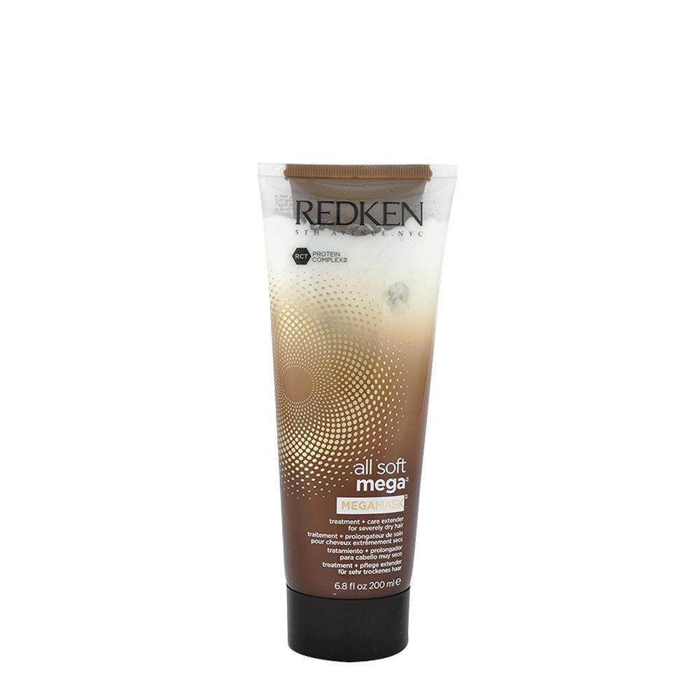 Redken All soft mega Megamask 200ml - Tratamiento intensivo para el cabello medio a grueso y seco
