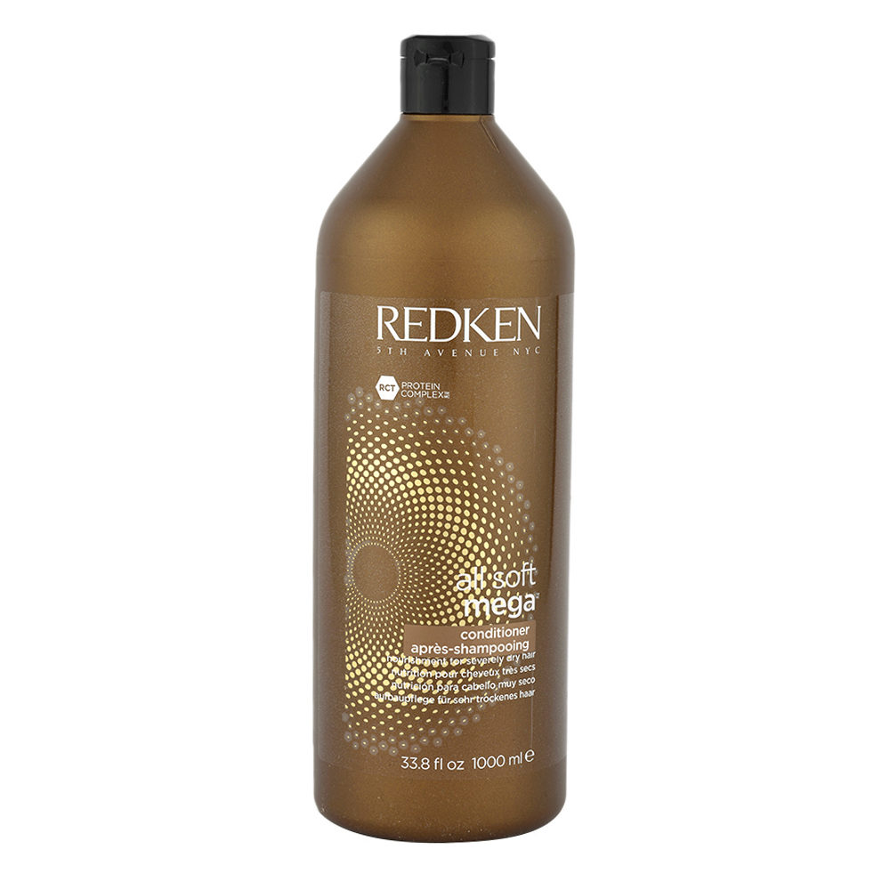 Redken All soft mega Conditioner 1000ml - acondicionador nutritivo cabello medio a grueso y seco