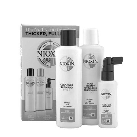 Nioxin System1 Full kit - cabello natural - pérdida de densidad lieve