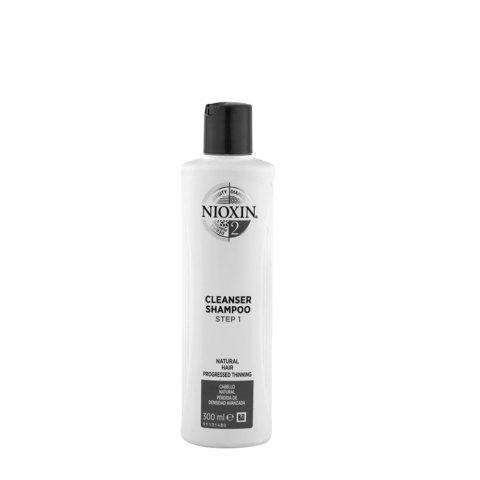 Nioxin System2 Cleanser Shampoo 300ml - cabello natural pérdida de densidad avanzada