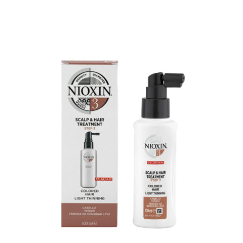 Nioxin System3 Scalp & hair Treatment 100ml - cabello teñido - pérdida de densidad lieve