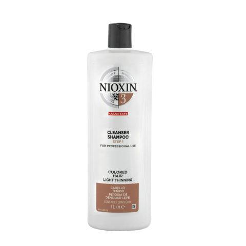 Nioxin System3 Cleanser Shampoo 1000ml - Champù anticaìda