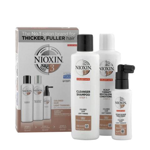 Nioxin System3 Full kit - cabello teñido - pérdida de densidad lieve