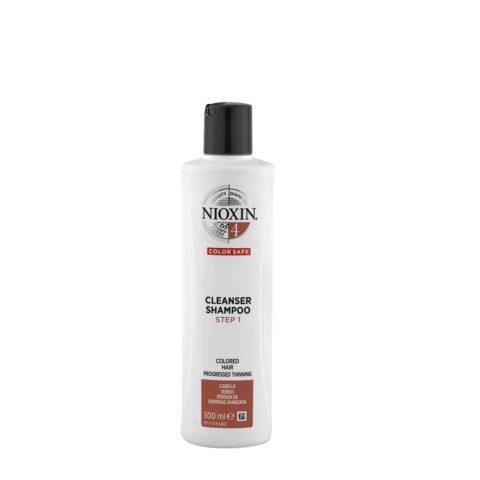 Nioxin System4 Cleanser Shampoo 300ml - cabello teñido - pérdida de densidad avanzada