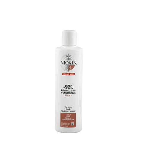 Nioxin System4 Scalp therapy Revitalizing conditioner 300ml - cabello teñido - pérdida de densidad avanzada