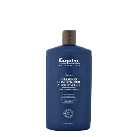 Esquire The 3-in-1 Shampoo Conditioner & Body Wash 414ml - champù acondicionador y cabòn cuerpo