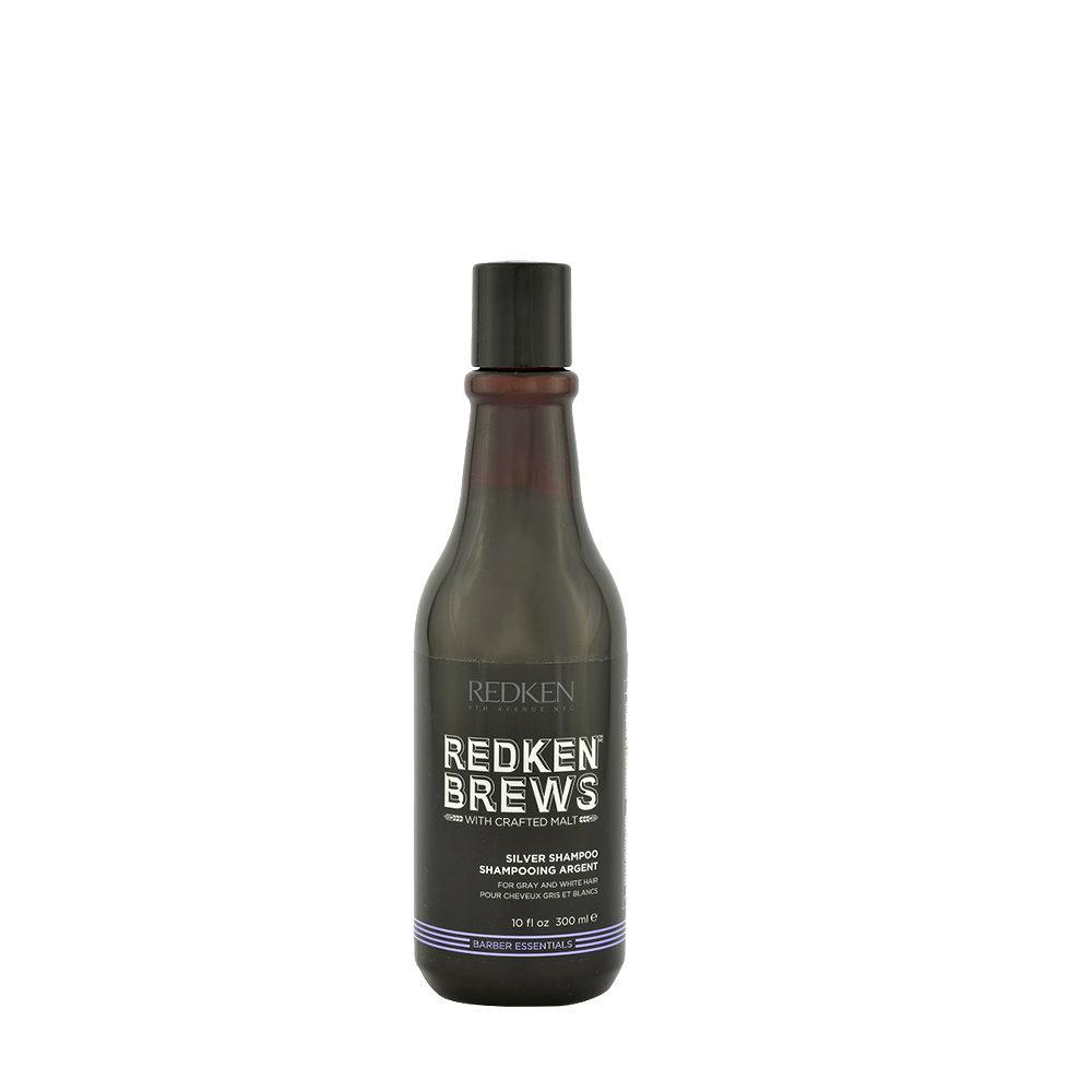 Redken Brews Man Silver Shampoo 300ml - para cabello blanco y gris