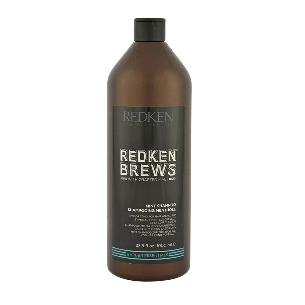 Redken Brews Man Mint Shampoo 1000ml - champú energizante de menta