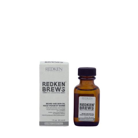 Redken Brews Man Beard and skin oil 30ml - Aceite hidratante para barba y piel