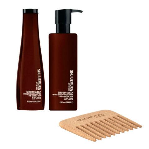 Shusu Sleek Kit1 Shusu Sleek Shampoo 300ml Conditioner 250ml - free comb