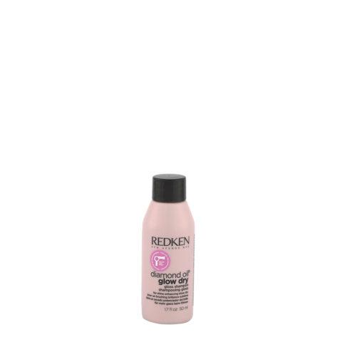 Redken Diamond Oil Glow Dry Gloss Shampoo 50ml - Champú cabello brillante, para todo tipo de cabello