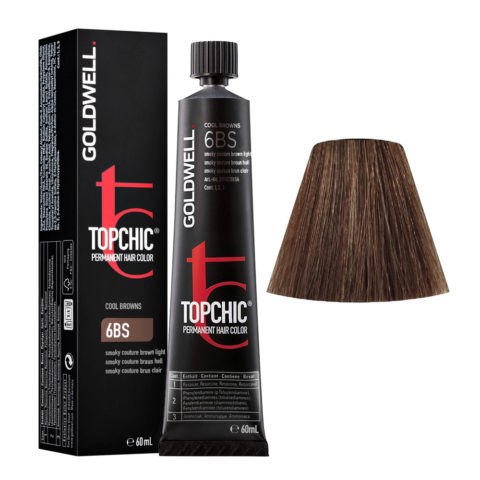 6BS Smoky couture castaño claro Goldwell Topchic Cool browns tb 60ml