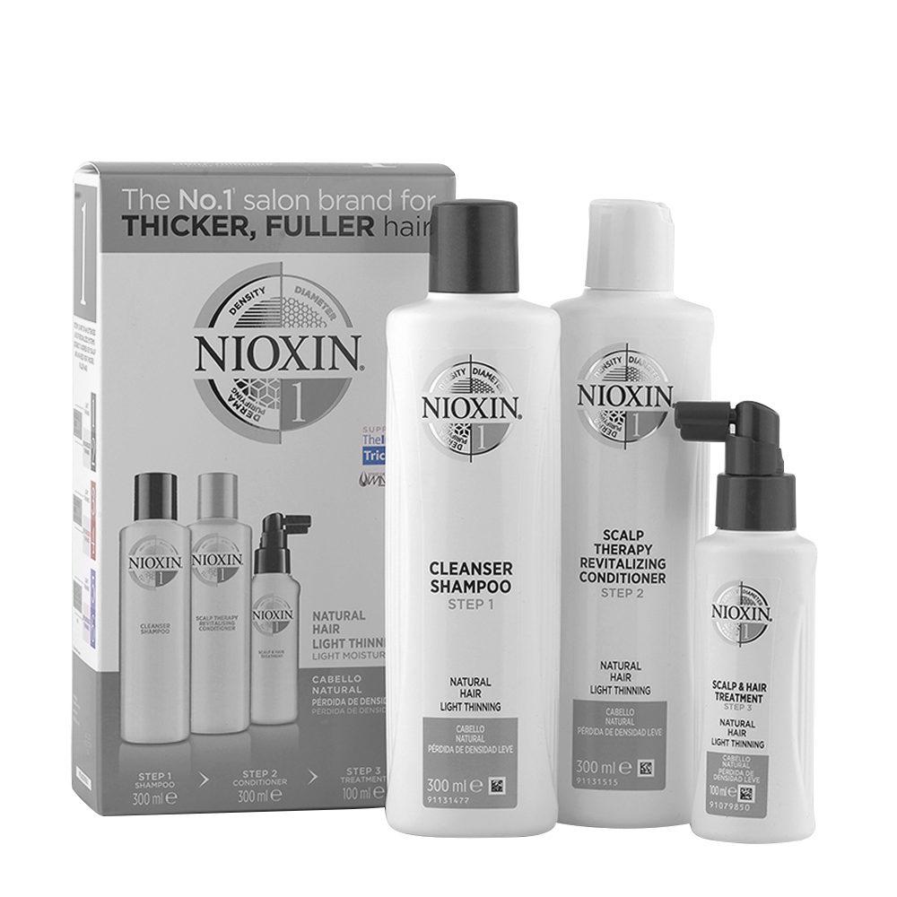 Nioxin System1 XXL Kit Anticaìda Champu 300ml + Acondicionador 300ml + Tratamiento 100ml