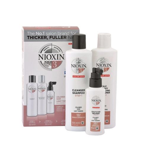 Nioxin System3 Full kit XXL - cabello teñido - pérdida de densidad lieve