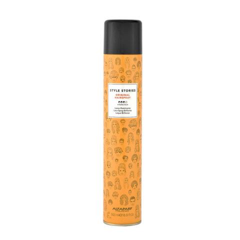 Alfaparf Style Stories Original Hairspray 500ml - Laca Spray De Brillo