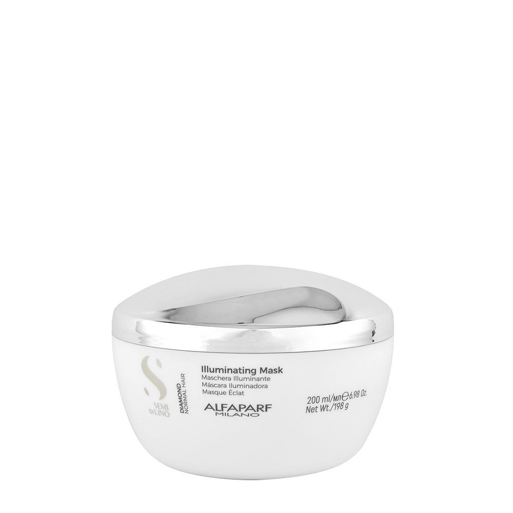 Alfaparf Semi Di Lino Diamond Illuminating Mask 200ml - Mascarilla Iluminadora