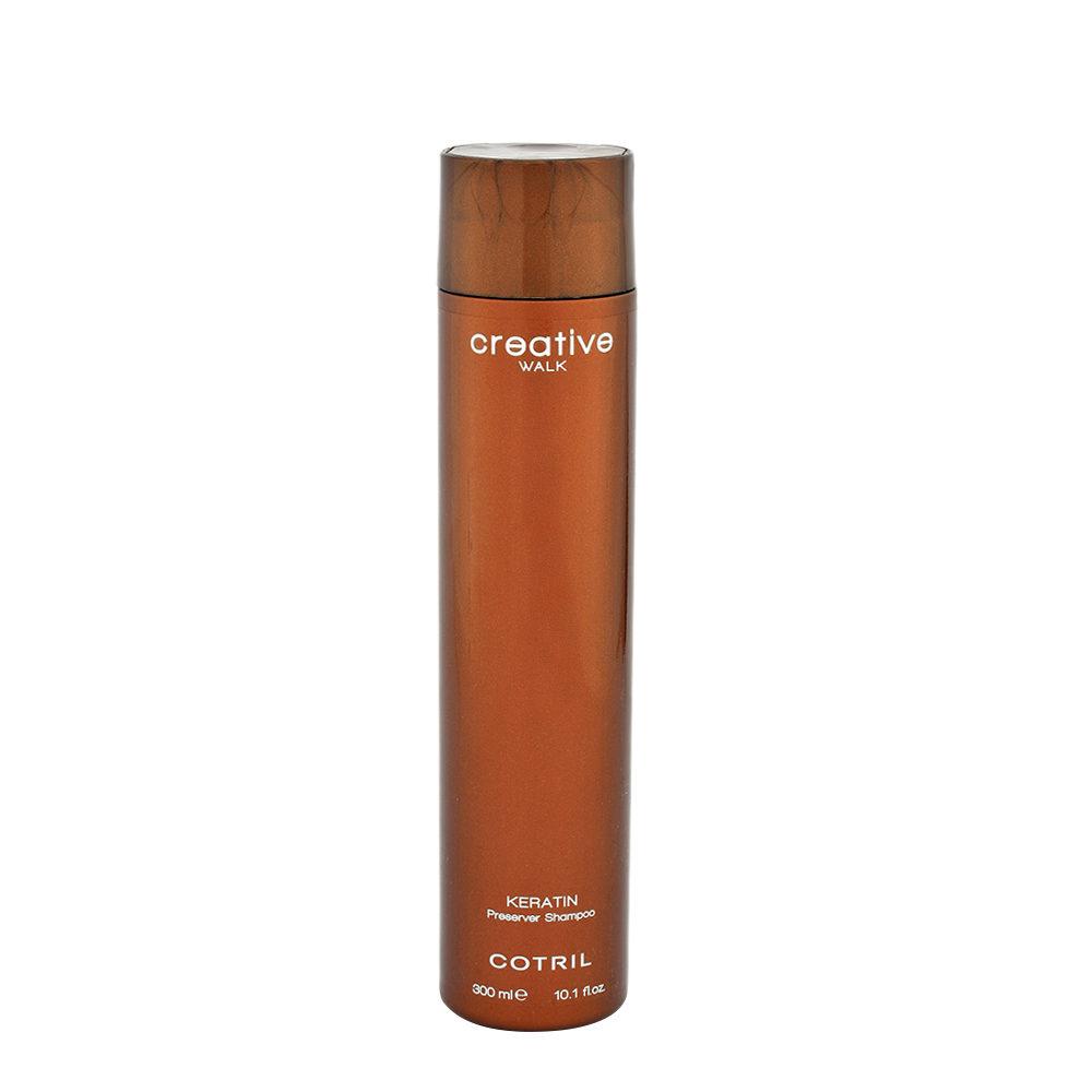 Cotril Creative Walk Keratin Preserver Shampoo 300ml - Tratamiento Post Queratina