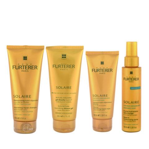 René Furterer Solaire Complete ritual después del sol 4 productos