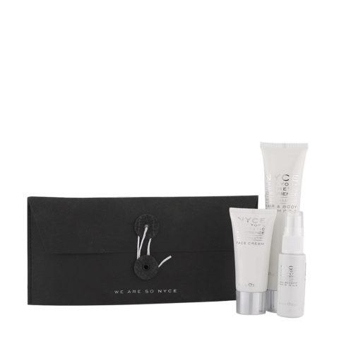 Nyce Anti pollution Woman Kit Champù 75ml Crema Facial 30ml Leche para cabello 30ml
