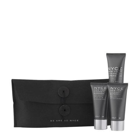 Nyce Anti pollution Man Kit Shampoo 75ml Tònico para Barba 30ml Gel 30ml