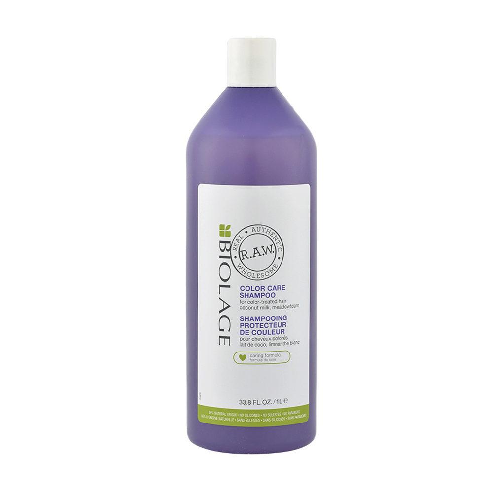 Biolage RAW Color Care Shampoo 1000ml para el cabello coloreado