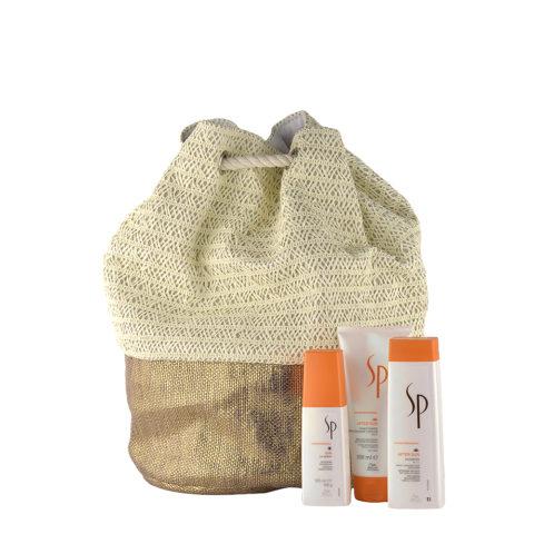 Wella SP AfterSun Kit Shampoo 250ml Conditioner 200ml Sun UV spray 125ml  en regalo bolsa