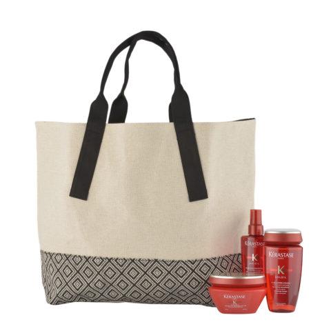 Kerastase Soleil Kit Micro-Voile Protecteur 125ml  Shampoo Après-Soleil 250ml  Masque 200ml  Sun bag gratis