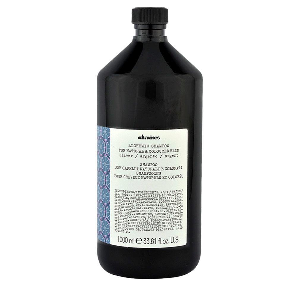 Davines Alchemic Shampoo Silver 1000ml - Champú coloreado para cabello cano
