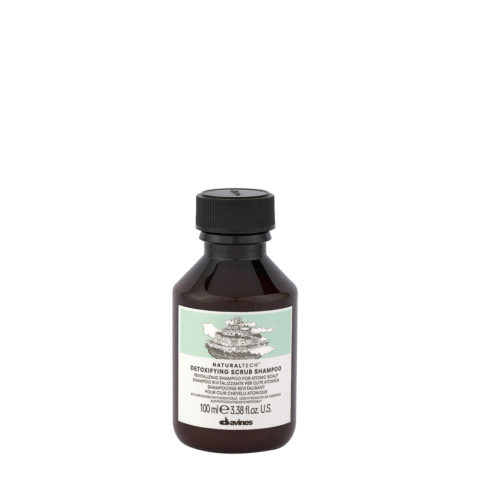 Davines Naturaltech Detoxifying Scrub Shampoo 100ml - Champú revitalizante