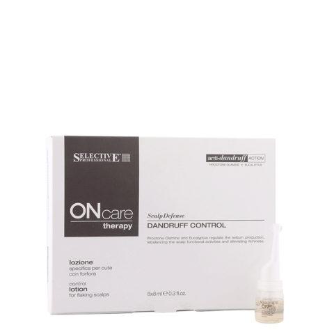 Selective On care Scalp Defense Dandruff control lotion 8x8ml - lociones anticaspa