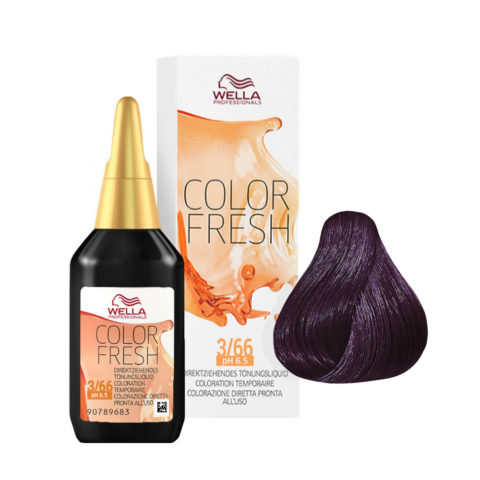 3/66 Castaño oscuro violeta intenso Wella Color fresh 75ml