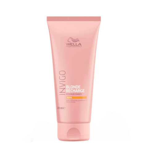 Wella Invigo Blonde Recharge Warm Blonde Color Refreshing Conditioner 200ml - bàlsamo rubia